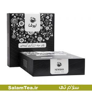 چای سیاه ارل گری کیسه ای ۱۶۰ عددی نیوشا