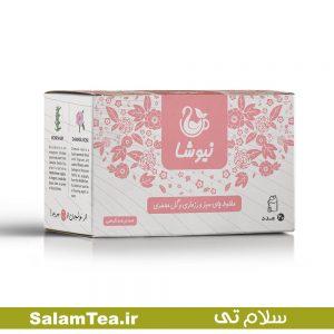 مخلوط چای سبز و رزماری و گل محمدی نیوشا