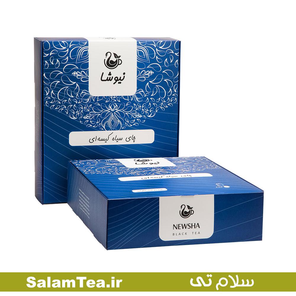 چای سیاه خالص کیسه ای ۱۶۰ عددی نیوشا (لفاف کاغذی)
